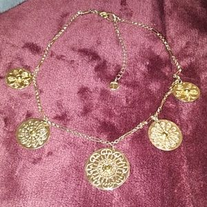 Trifari Jewelry - Trifari vintage gold/crystal necklace